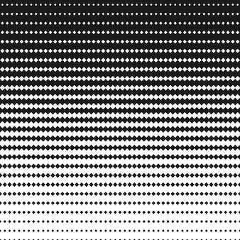 ハーフトーンの正方形の黒と白のパターン。幾何学的な背景wi