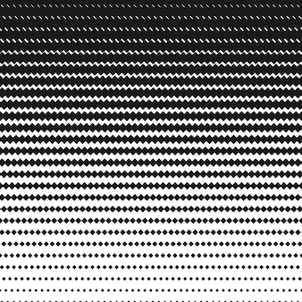 Halftone square black and white pattern. geometric background wi
