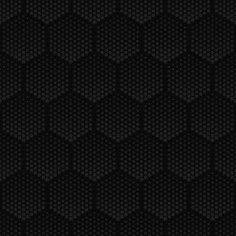 Halftone technology hexagons dark seamless pattern
