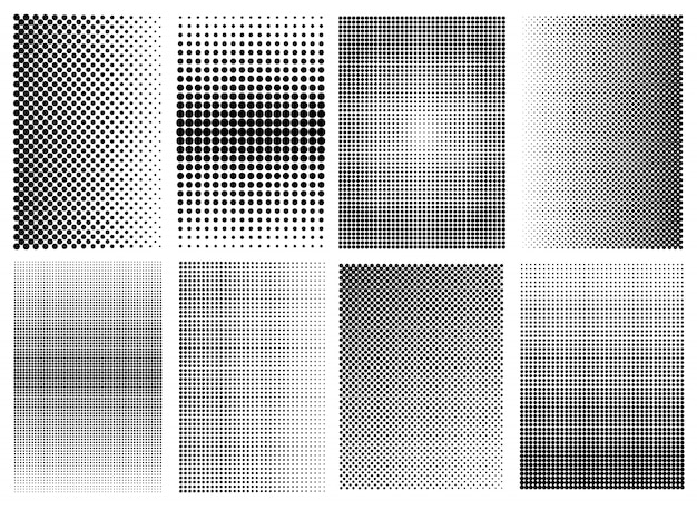 Halftone texture backgrounds