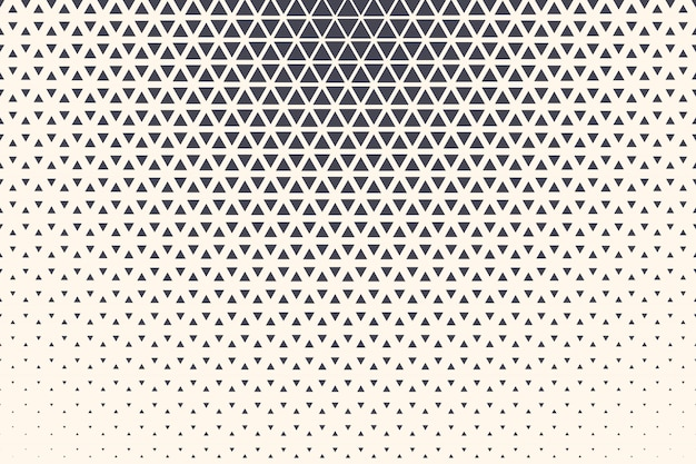 Halftone triangles abstract technology background