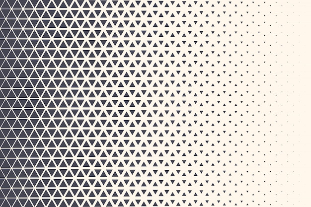 Halftone triangles pattern technology abstract geometric background