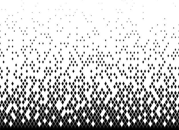 Halftone vector background. filled with black triangles .