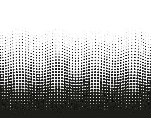 Полутоновый волнистый точечный узор. поп-арт градиентный фон. полутоновая текстура. иллюстрация