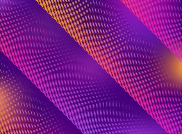 Halftone with vivid gradients abstract background design