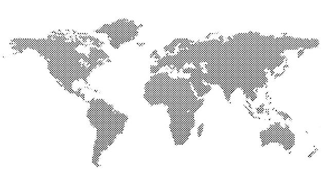 Полутоновый фон на карте мира