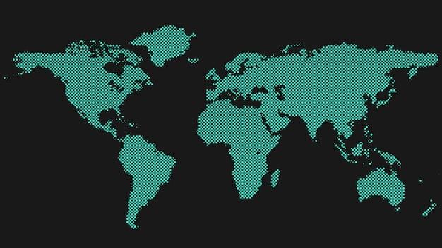 Halftone world map background