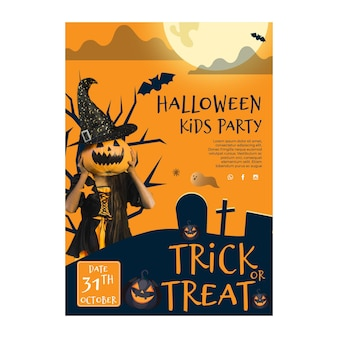 Halloween a5 flyer template