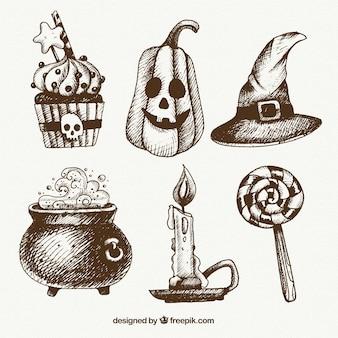 Halloween accessories drawings