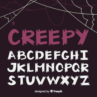 Halloween alphabet collection