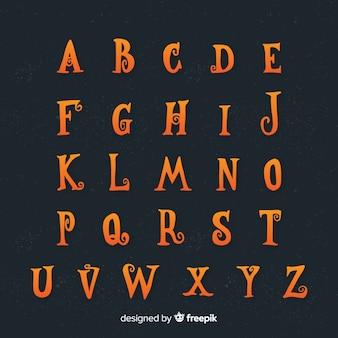 Halloween alphabet concept