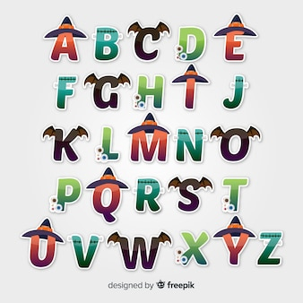 Halloween alphabet design