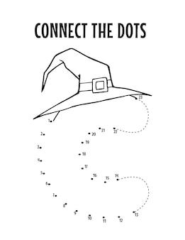 Halloween alphabet letter dot to dot worksheet for kids