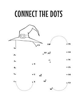 子供のためのハロウィーンのアルファベット文字ドットツードットワークシート