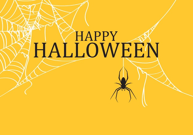 Halloween background decorated with spider web torn.