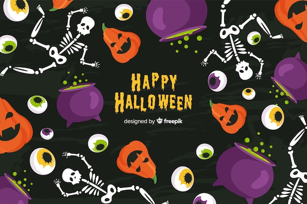 Halloween background in flat design