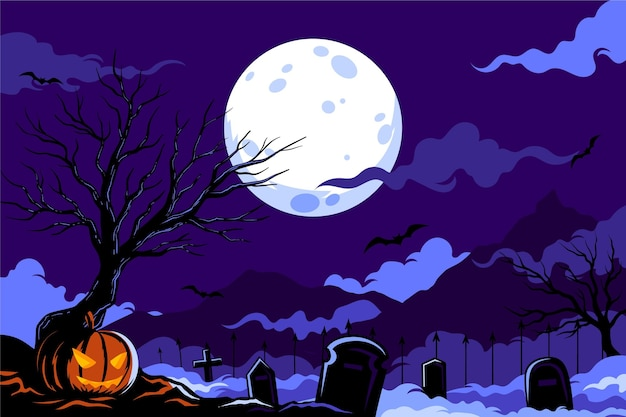 Halloween background flat design