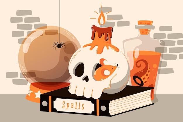 Хэллоуин фон в стиле гранж