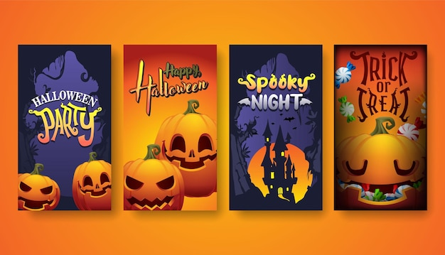 Halloween background, halloween party vector illustration