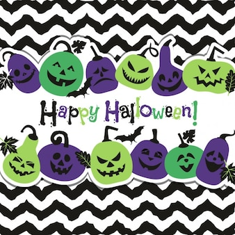 Хэллоуин фон веселых тыкв