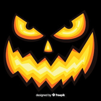 Halloween background of enchanted pumpkin