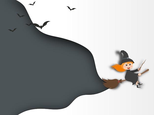 Хэллоуин фоном бумажный стиль.