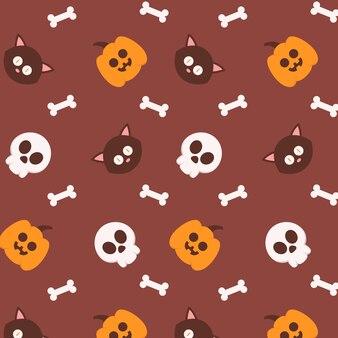 Halloween background pattern in flat design