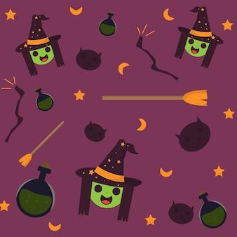 Halloween background pattern