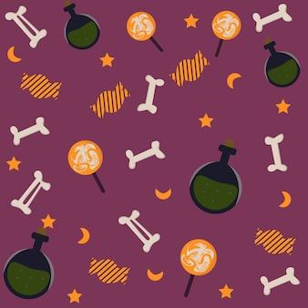 Halloween background pattern Premium Vector