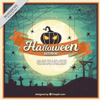 Halloween background in vintage style