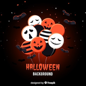 Halloween background with balloons