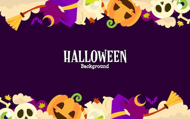 Halloween background with copy space text