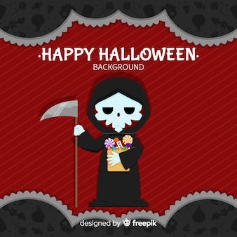 Halloween background with creepy character