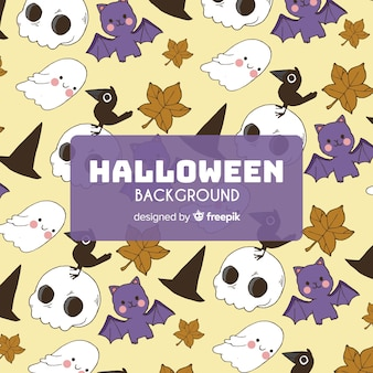 Halloween background with cute pattern