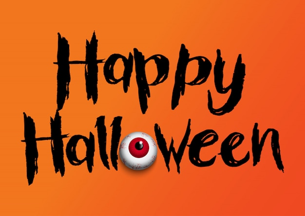 Halloween background with eyeball