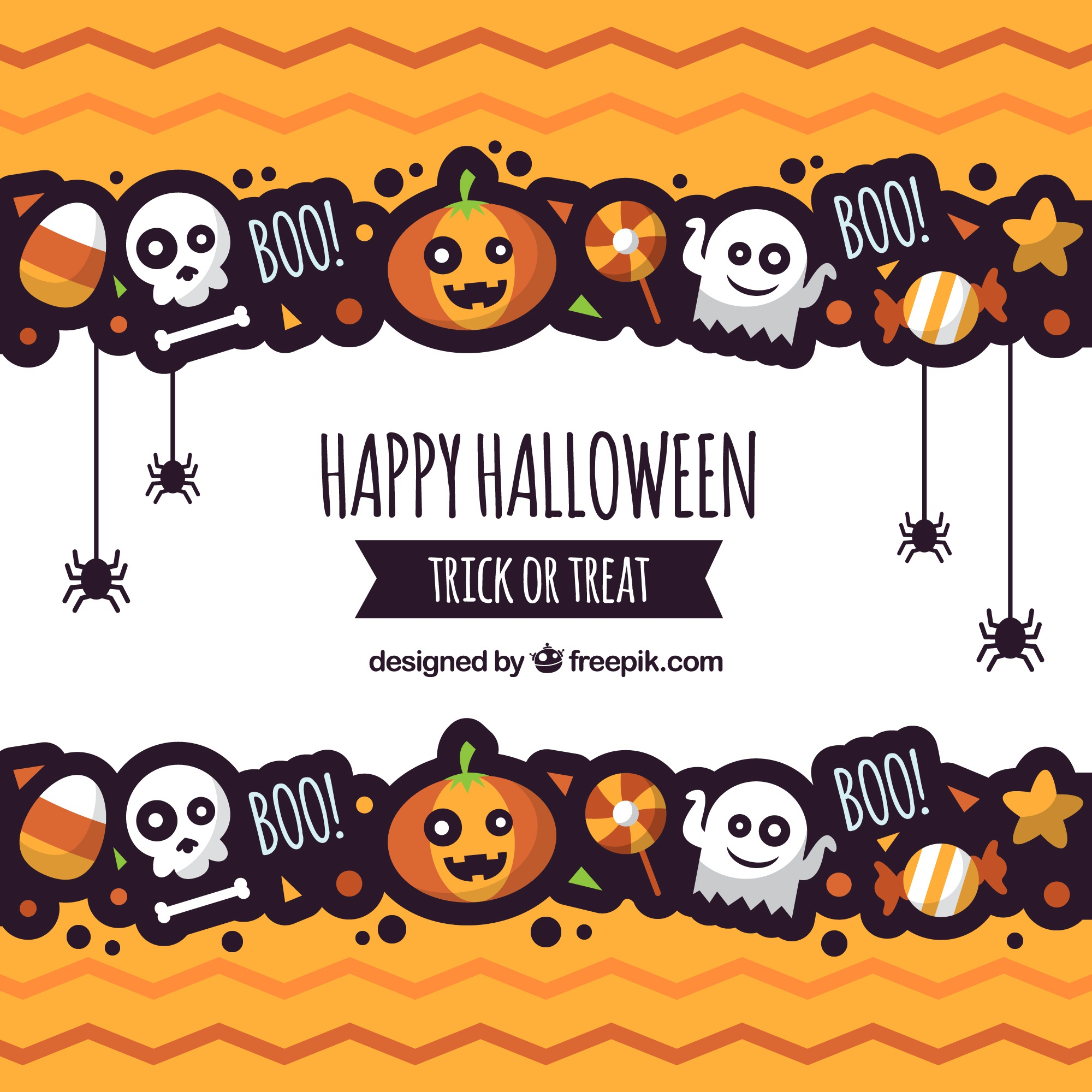 Halloween background with fun style
