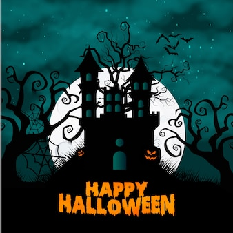 Halloween background with halloween background