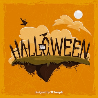 Halloween background with original typography