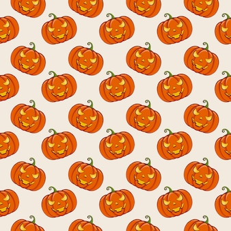 Halloween background with pumpkins.  seamless pattern.