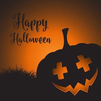 Хэллоуин фон с жуткий тыквы