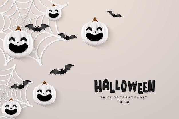 Halloween background with two halloween pumpkins