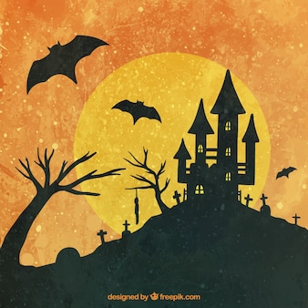 Halloween background with vintage style