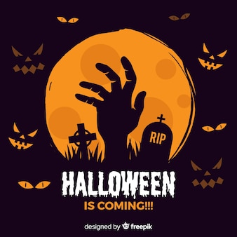 Halloween background Premium Vector