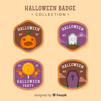 Halloween badges set