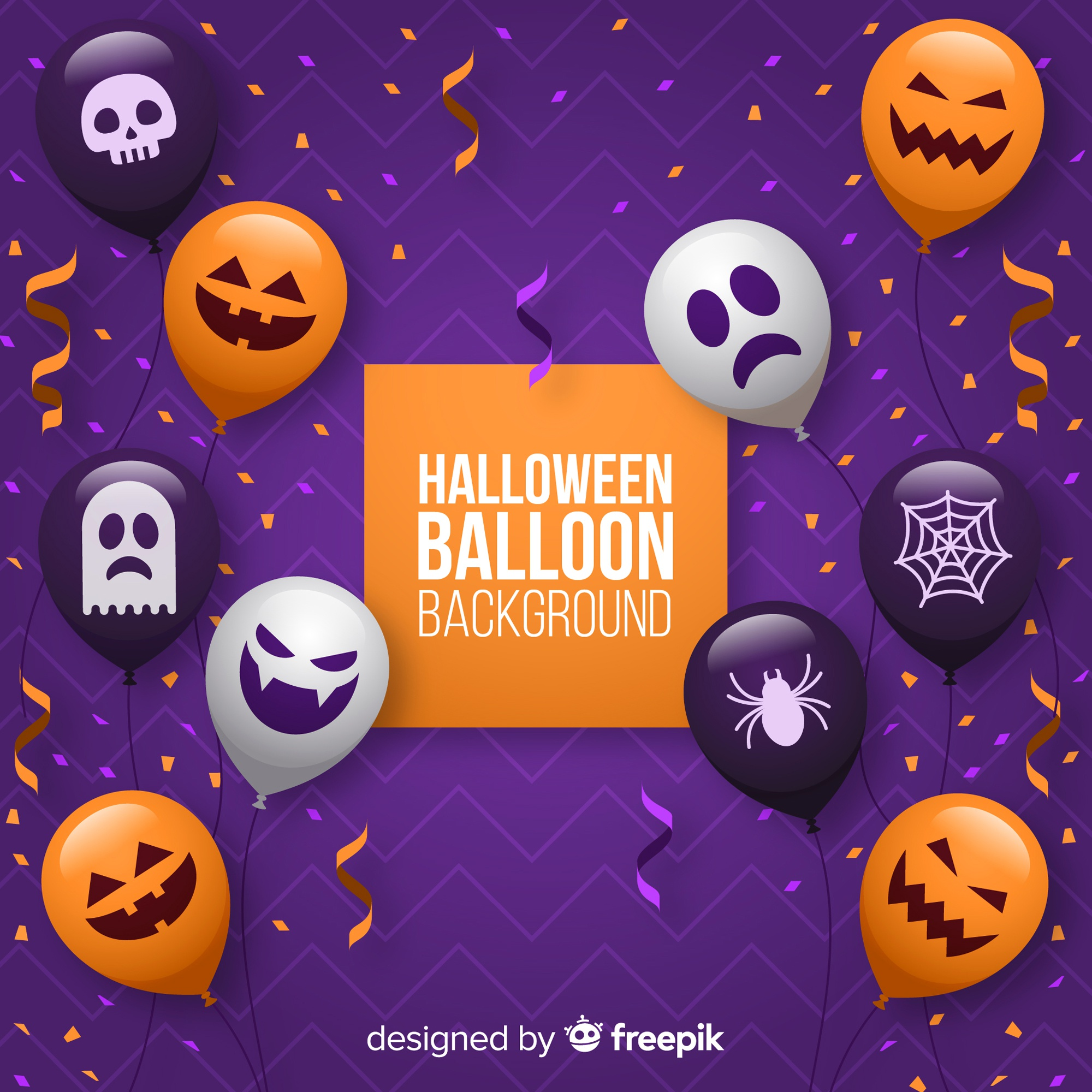 Halloween balloon background
