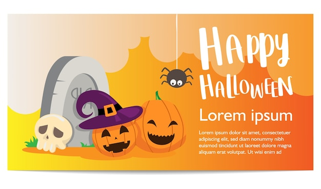 Halloween banner background template