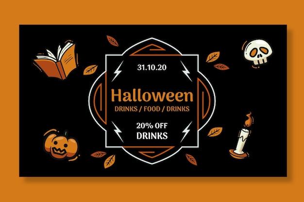 Хэллоуин баннер концепция