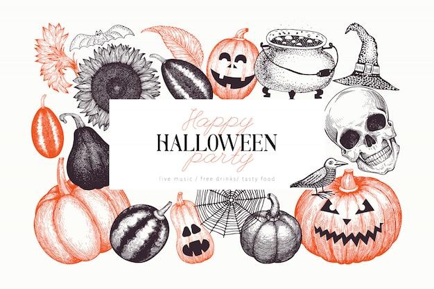 Halloween banner template.