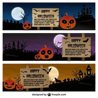 Halloween banner templates