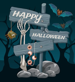 Halloween banner. vector illustration.